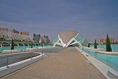 Nella città delle arti e delle scienze a Valencia Fotografia Stock Libera da Diritti