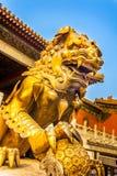 Nella Città proibita a Pechino Cina fotografie stock