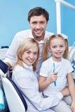 Nella clinica dentale immagini stock