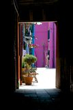 Burano in una cornice royalty free stock photography