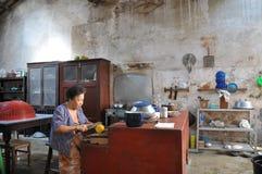Nella cucina Fotografia Stock
