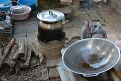 Nella cucina del paese Fotografia Stock Libera da Diritti