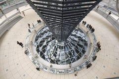 Nella cupola, Reichstag, Berlino fotografia stock