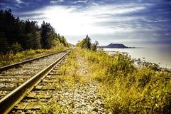 Nella distanza della ferrovia Fotografia Stock Libera da Diritti