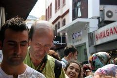 Nella folla al bazar turco Fotografia Stock Libera da Diritti