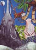 Nella giungla di fantasia royalty illustrazione gratis