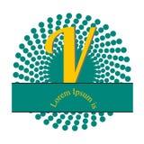 Nella la figura, il logo è una lettera V fotografia stock libera da diritti