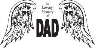 Nella memoria amorosa del papà Fotografia Stock