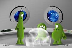 Nella nave spaziale illustrazione di stock