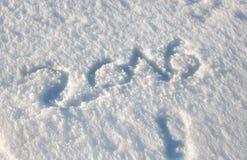 2016 nella neve Fotografia Stock Libera da Diritti