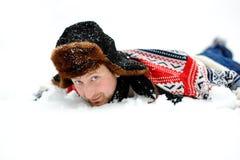 Nella neve del yhe Immagini Stock