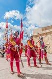 Nella parata di Guardia ai cavalieri della st Jonh in Birgu, Malta Fotografia Stock Libera da Diritti