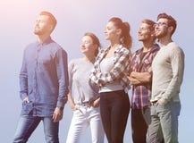 Nella piena crescita un gruppo di riusciti giovani Immagine Stock Libera da Diritti