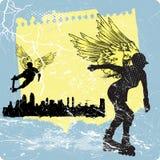 Nella riga angelo illustrazione vettoriale