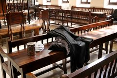 Nella sinagoga Ohel Yitzchak a Gerusalemme Immagine Stock Libera da Diritti