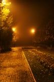 Nella sosta di notte Fotografia Stock