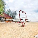 nella spiaggia con amore fotografia stock