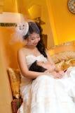Nella sposa e nello sposo di amore Immagine Stock