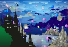Nella terra dei castelli, royalty illustrazione gratis