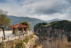 Nella valle di Meteora, la Grecia Immagini Stock