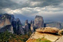 Nella valle di Meteora, la Grecia Immagine Stock Libera da Diritti