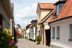 Nella vecchia città di Visby, la Svezia immagini stock