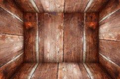 Nella vecchia priorità bassa di legno di struttura della casella di Grunge Immagini Stock Libere da Diritti