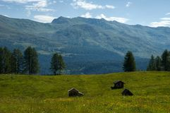 Nelle alpi della dolomia Fotografia Stock Libera da Diritti