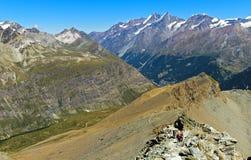 Nelle alpi della pennina vicino a Zermatt Fotografia Stock