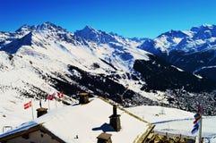 Nelle alpi svizzere nell'inverno Fotografia Stock