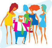 Nelle belle donne di dintorni Immagine Stock Libera da Diritti