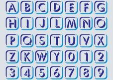 Nelle lettere alfabetiche. Fotografie Stock Libere da Diritti