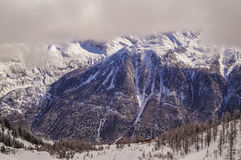 Nelle montagne delle alpi, Chamonix-Mont-Blanc, Francia Fotografia Stock Libera da Diritti