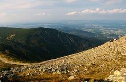 Nelle montagne di Karkonosze fotografia stock