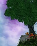 Nelle nubi Immagini Stock
