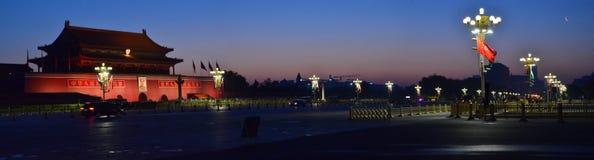 Nelle prime ore del mattino della piazza Tiananmen di Pechino Immagini Stock