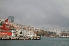 Nelle rive di Costantinopoli, la Turchia Fotografie Stock