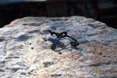 Nelle rovine della cappella Poxos Petros in Akunq, Armenia Immagine Stock Libera da Diritti