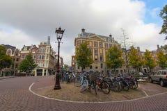 Nelle vie di Amsterdam, i Paesi Bassi Fotografia Stock Libera da Diritti