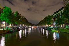 Nelle vie di Amsterdam, i Paesi Bassi Immagine Stock