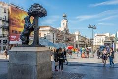 Nelle vie di Madrid (Puerta del Sol) Immagini Stock