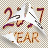 Nello stile d'annata segnare 2017 con lettere ha sostituito il 2016 precedente royalty illustrazione gratis