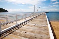 Nelly Bay Jetty, île magnétique près d'Australie de Townsville Photographie stock