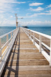 Nelly Bay Jetty, Magnetic Island near Townsville Australia. The timber Nelly Bay Jetty on Magnetic Island, near Townsville Australia Stock Photos