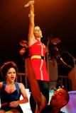 Nelly Furtado utför i konsert royaltyfri foto