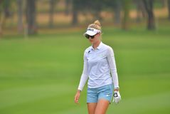 Nelly Korda in Honda LPGA Thailand 2018. CHONBURI - FEBRUARY 24 : Nelly Korda of USA in Honda LPGA Thailand 2018 at Siam Country Club, Old Course on February 24 Stock Photos