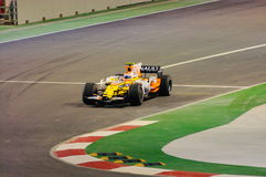Nelsinho Piquet's Renault Car In 2008 F1 Stock Photography