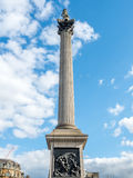 The Nelson column in London Royalty Free Stock Photo