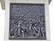 Nelson-Denkmal im Trafalgar Quadrat Stockbilder