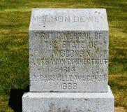 Nelson Dewey Tombstone Royalty Free Stock Photos